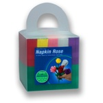 Napkin Rose CUBE - 150 napkins/30 of each color