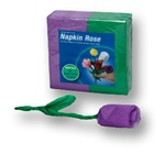 PURPLE/Green Napkin Rose Refill - 50 napkins