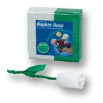 WHITE/Green Napkin Rose Refill - 50 napkins